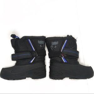 Koalakids black blue snow boots size 6